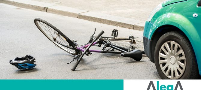 Indemnización accidente una bicicleta